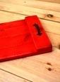 Oldwooddesign Eskitme Doğal Tepsi Kırmızı Kırmızı
